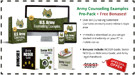 Army Counseling Examples Pro-Pack + Free Bonuses!