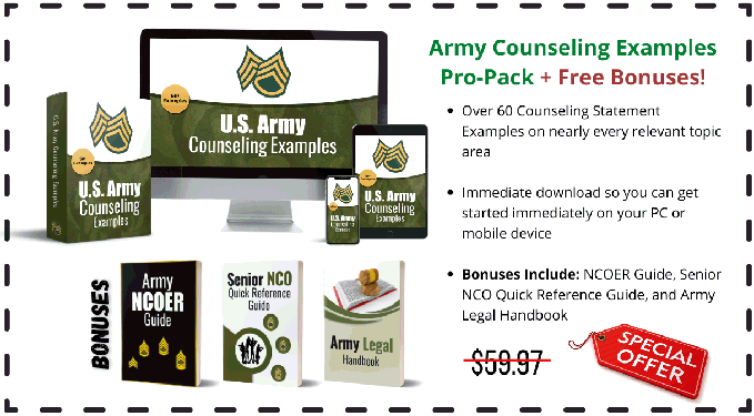 U.S. Army Counseling Statement Examples
