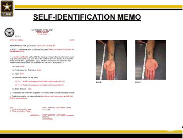 Tattoo Self ID Memo
