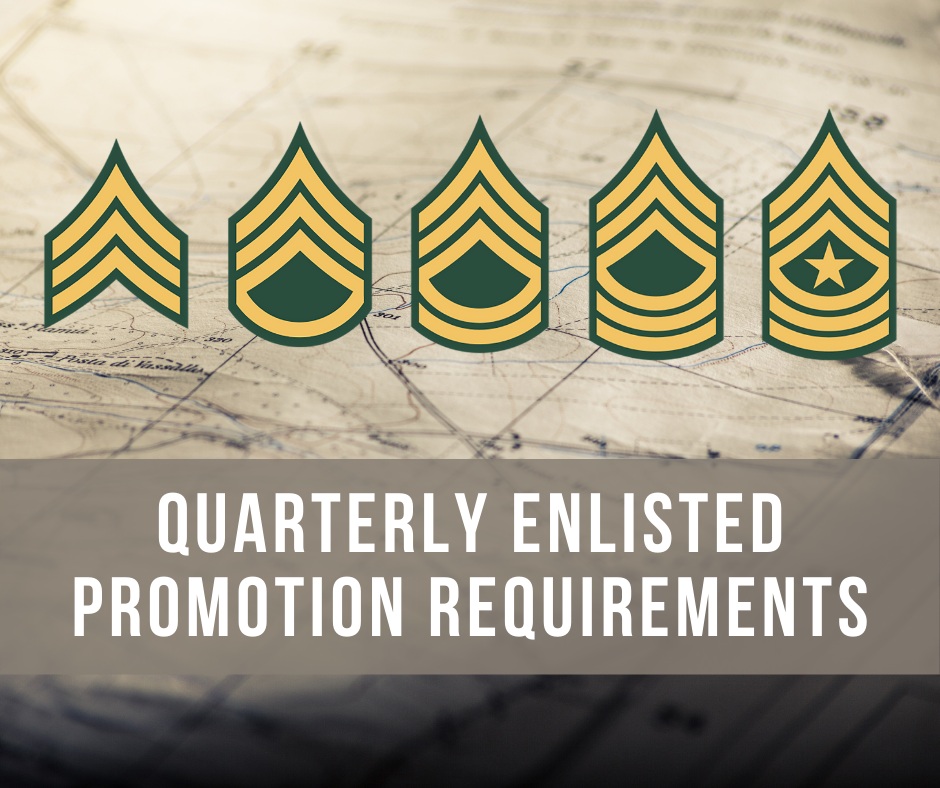 Enlisted Promotion Projections SGT-SGM