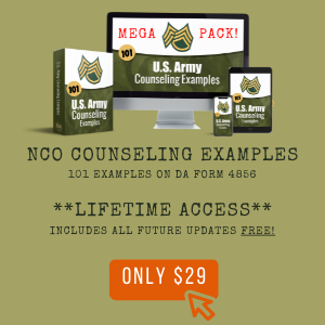 army counseling examples